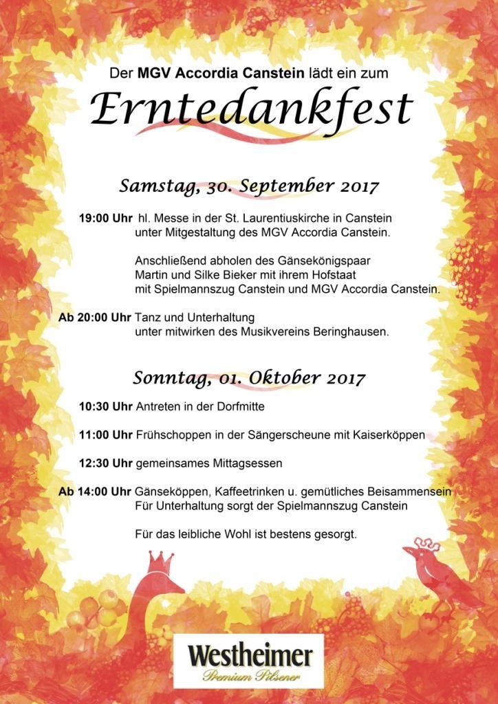 Erntedank 2017